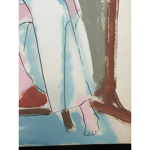 "Jerry Opper C 1950s Bay Area Figurative Painting ""Slit"" For Sale - Image 4 of 6"