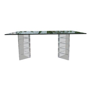 Vintage Mid-Century Modern Lucite Dining Table For Sale