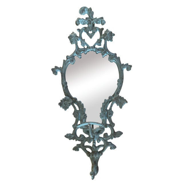 Vintage-Like Wall Mirror With Hat Hook - Image 1 of 6