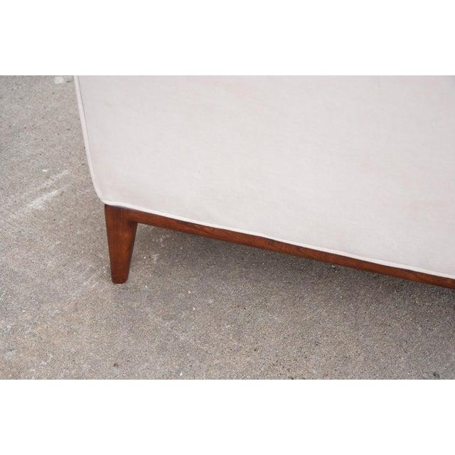 Circa 1950 United States Modern Dunbar/John Stuart Cream Velvet Sofas - a Pair For Sale - Image 9 of 10