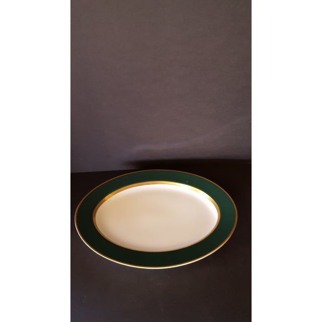 Mid-Century Modern Vintage Fitz and Floyd Renaissance Stoneware Platter For Sale - Image 3 of 3