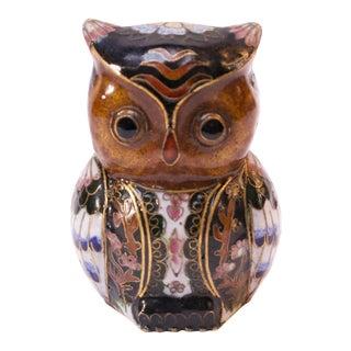 Mid-Century Cloisonné Owl For Sale