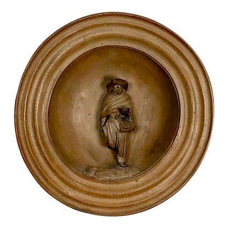 """Figure in a Tondo"" Wall Sculpture, Italy 19th Century For Sale"