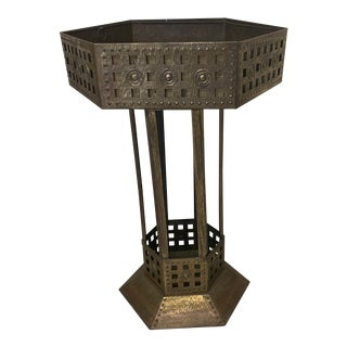 Medieval Standing Brass Planter or Bar For Sale