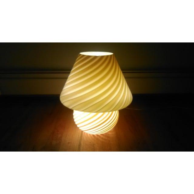 Vintage Murano Mushroom Lamp - Image 3 of 5