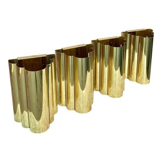 Postmodern Brass Wall Sconces - Set of 4 For Sale