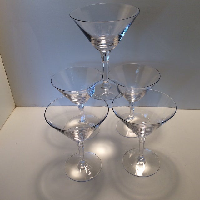 Set of 5 Cocktail or Champagne Glasses by Fostoria For Sale - Image 13 of 13