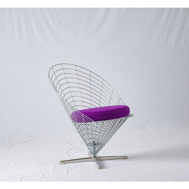 "Verner Panton ""Wire Cone"" chair designed in 1958 and produced by Plus-Linje. I have three of these chairs."