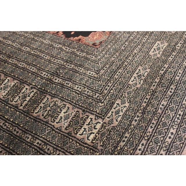 """Bokara Arya Kum Black & Brown Wool Rug - 10'3"""" x 13'11"""" For Sale - Image 4 of 7"""