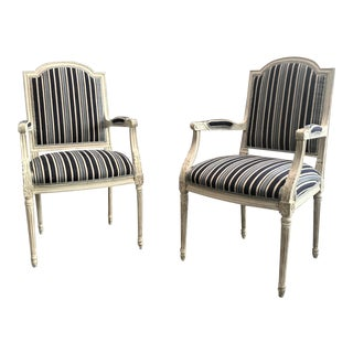 Late 19th Century Neoclassical Armchairs - a Pair For Sale