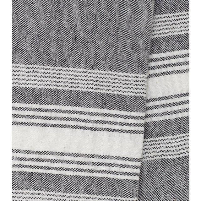 """Grey and white chambray kitchen towel, handwoven by artisans in Guatemala. 100% Cotton 24""""x31"""""""