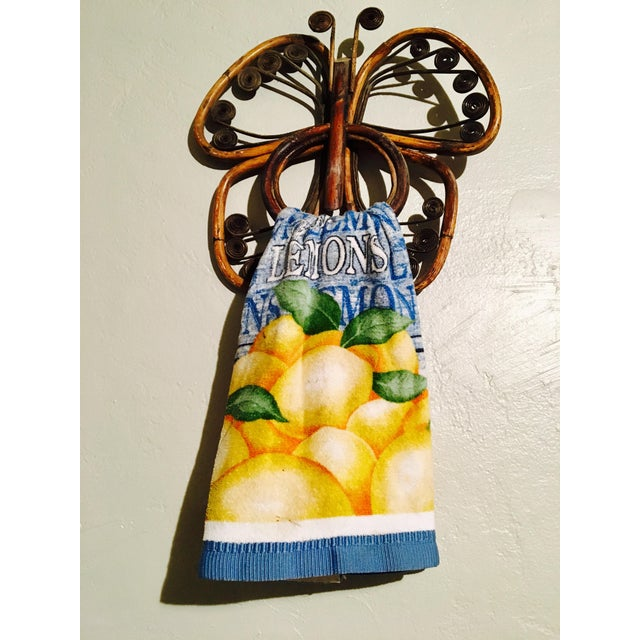 Vintage Bamboo Butterfly Towel Holders - A Pair - Image 4 of 8
