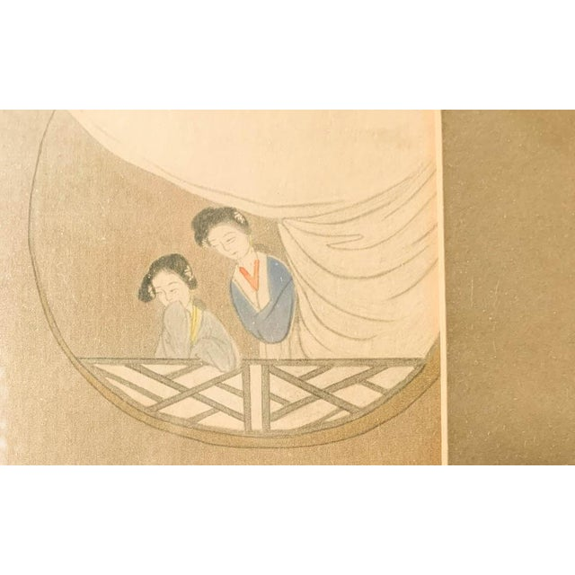 Antique Chinese Painting - Woman in Waiting For Sale - Image 4 of 8