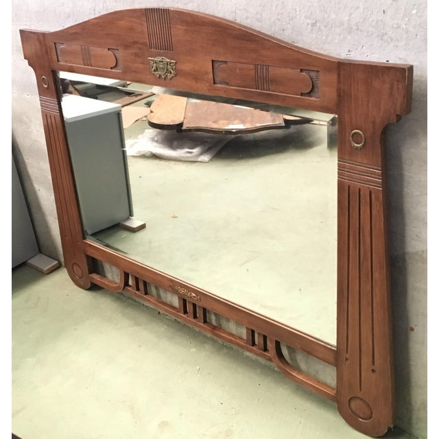 About Mirror with nice arch design, circa 1910. Original mirror. Details OF THE PERIOD Arts and Crafts PLACE OF ORIGIN...