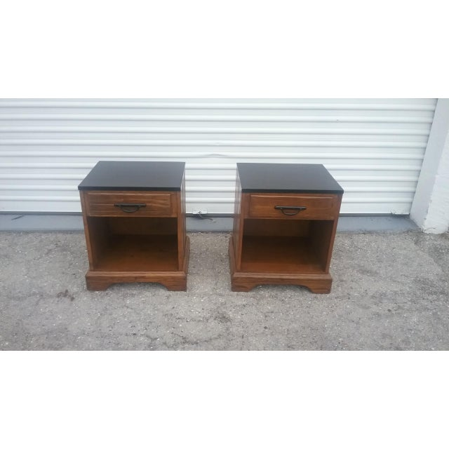A. Brandt Ranch Oak Nightstands - A Pair - Image 3 of 11