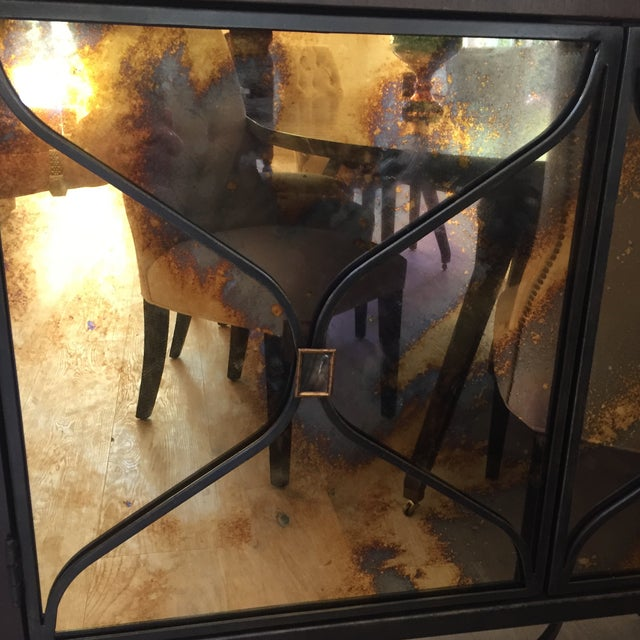 Caracole A Caracol Furniture; Italian Smoke & Mirror Console For Sale - Image 4 of 13