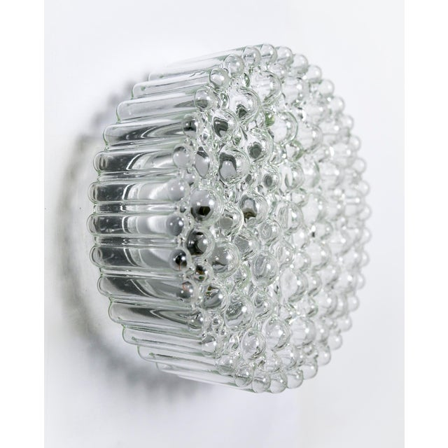 Glashütte Limburg Circular Crystal Clear Bubbles Sconce by Helena Tynell For Sale - Image 4 of 6