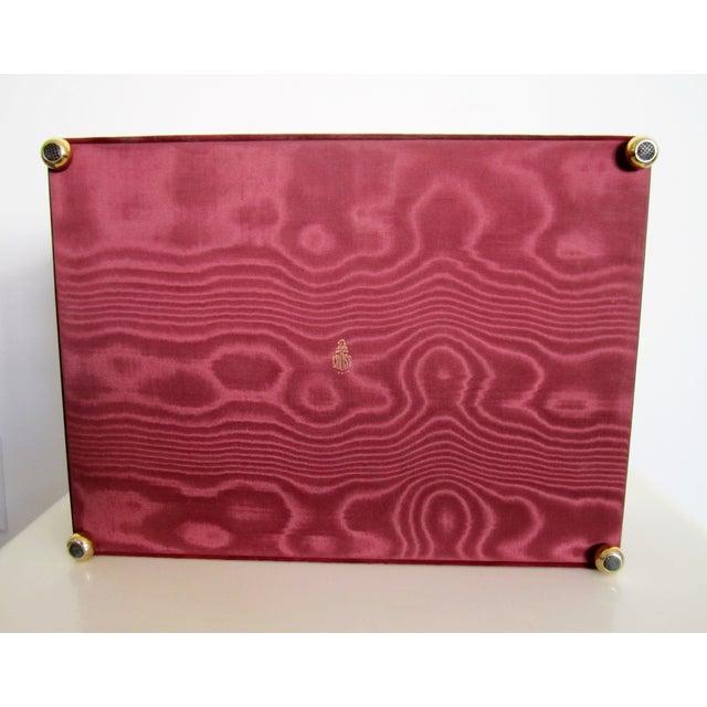 Mark Cross Italian Suede & Leather Jewelry Box - Image 10 of 10