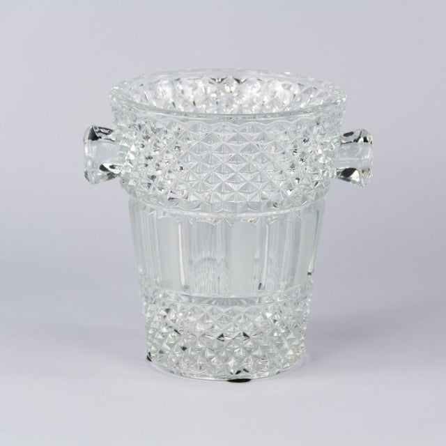 French Cut Crystal Champagne Bucket, 20th Century - Image 4 of 11