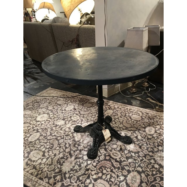 French Zinc Top Bistro Table For Sale - Image 10 of 12