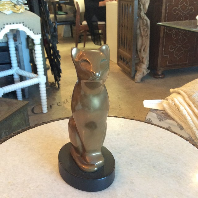 Vintage Brass Cat Statue - Image 2 of 5