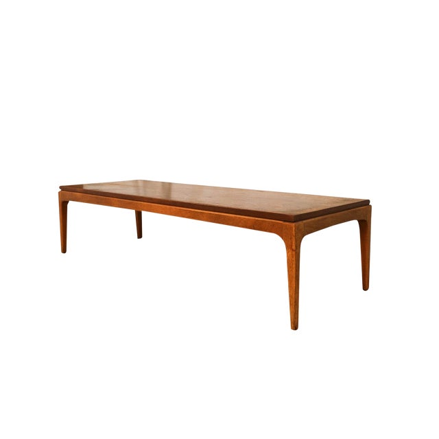 Mid Century Modern Lane Walnut Coffee Table For Sale