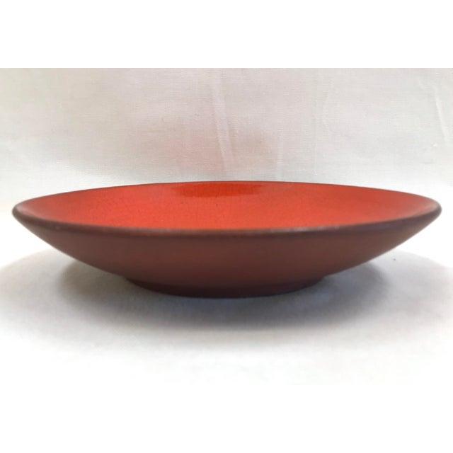 Mid 20th Century Vintage Saks Fifth Avenue French Orange Ceramic Fish Plate - Image 2 of 7