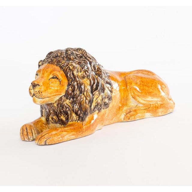 Italian Ceramic Lion - Image 2 of 7