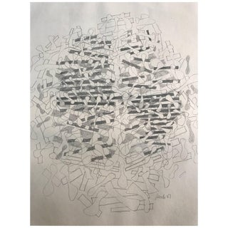 Fritz Rauh Drawing, Dated 1981 For Sale