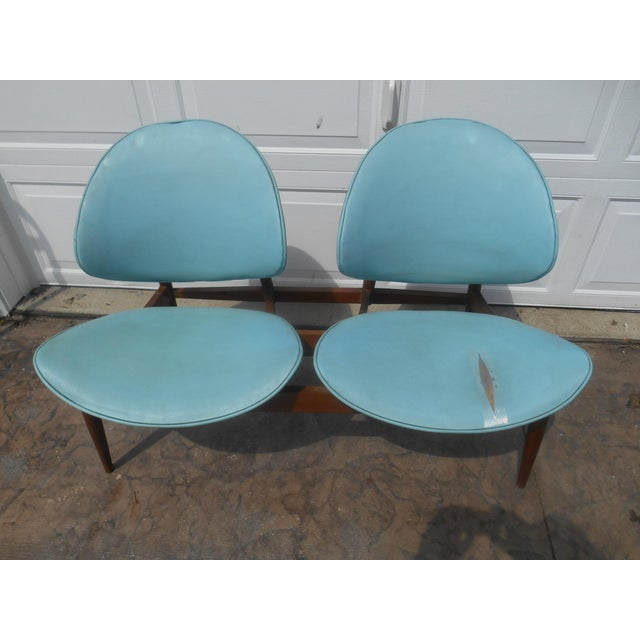 1960's Mid-Century Modern Kodawood Clamshell Bench Chairs For Sale - Image 9 of 9