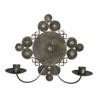 Spiral Wire Candle Sconce