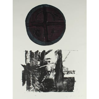 Gary Lee Shaffer Large Abstract Expressionist Collograph Print, 1967 1967 For Sale