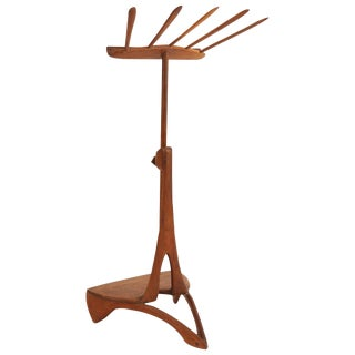 1960s Allen Ditson One Off Sculptural Solid Walnut Music Stand For Sale