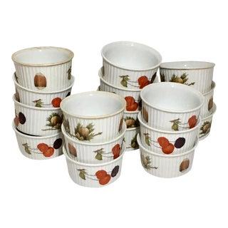 Royal Worcester Evesham Ramekins - Set of 17 For Sale