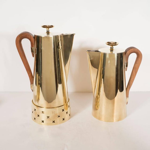 This gorgeous coffee or tea service set was designed by Tommi Parzinger, among the most celebrated Mid-Century Modernist...