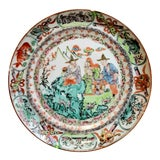 Image of Antique 19th Century Chinese Canton Famille Rose Plate For Sale