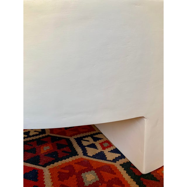 """Our handmade/made to order (see below for production times & additional info) 40""""d x 14""""h 'reed' round, smooth plaster..."""