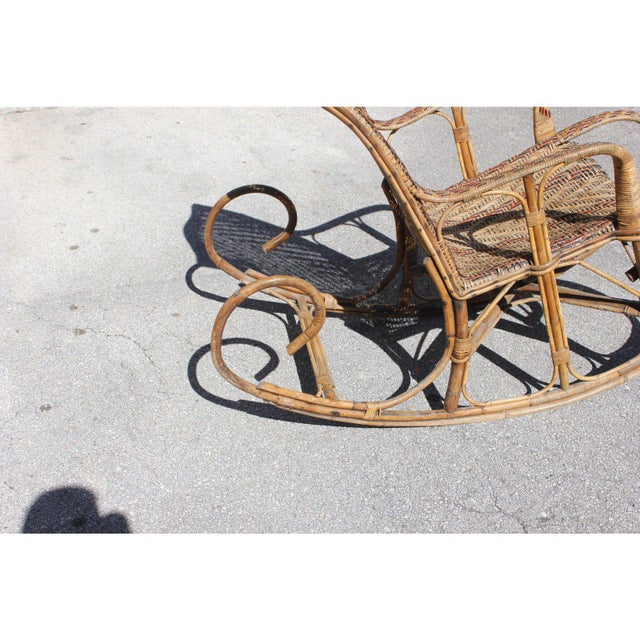 C. 1940s French Art Deco Wood Rocking Chair For Sale - Image 9 of 13