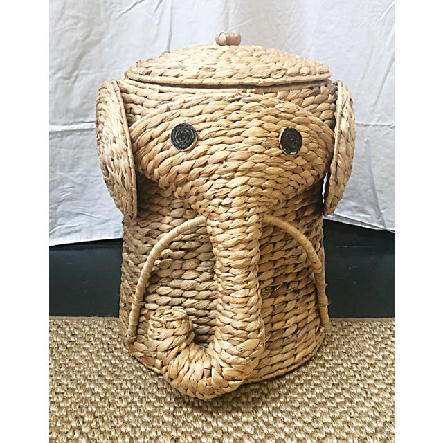 Fun whimsical sisal elephant hampers that can be used in lots of different areas whether it is a nursery, child's bedroom,...
