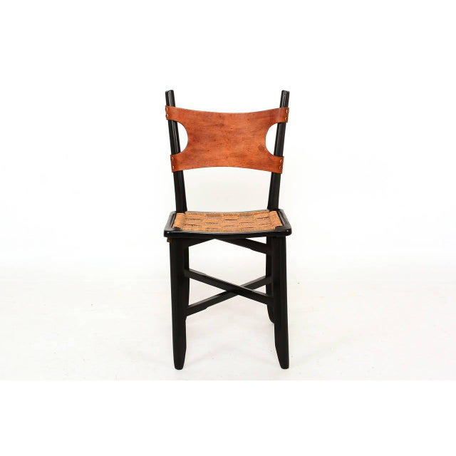 Brass Pair of Modernist Folding Chairs For Sale - Image 7 of 9