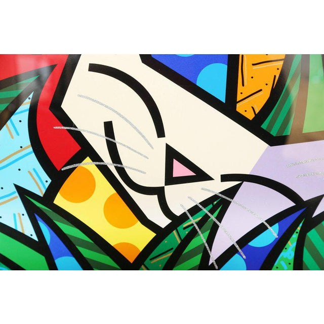 Romero Britto Behind the Bushes, Limited Edition Serigraph by Romero Britto For Sale - Image 4 of 7