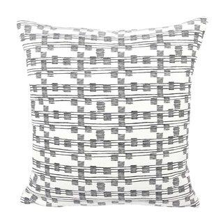 "Driggs Black & White Striped Pillow Cover - 18""x18"""
