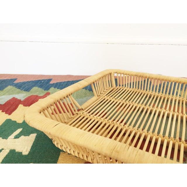 Boho Chic Vintage Rattan Tray - Image 5 of 6