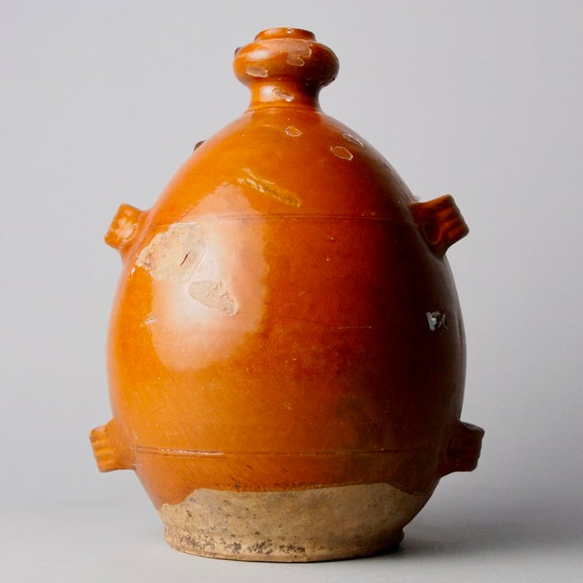 French Brown Pottery Jug with Four Handles For Sale In Detroit - Image 6 of 6