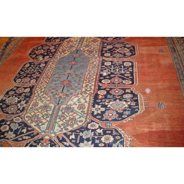 1880s, Handmade Antique Persian Bakshaish Rug 11' X 15.7' For Sale - Image 4 of 10