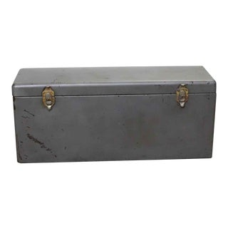 Reclaimed Steel Tool Trunk For Sale