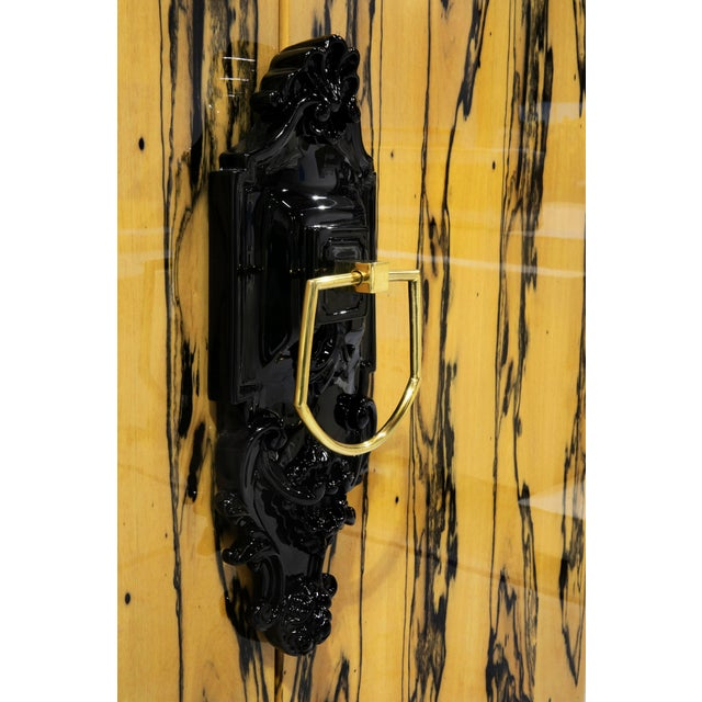 Boca de Lobo Studio Covet Paris Guggenheim Ebony Royal Cabinet For Sale - Image 4 of 5