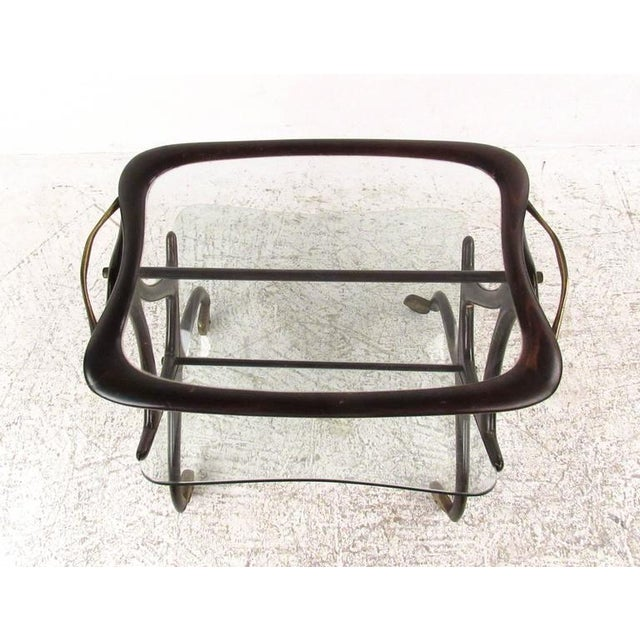 Cesare Lacca Italian Side Table Magazine Rack - Image 5 of 11