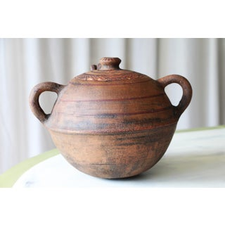 19th Century North African Tuareg Terracotta Two Handled Jug Preview