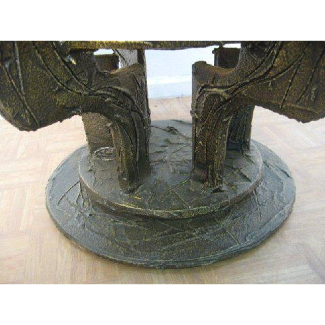 Bronze Set Four Paul Evans Sculpted Bronze Chairs For Sale - Image 7 of 8